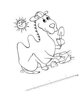 верблюд с лопаткой