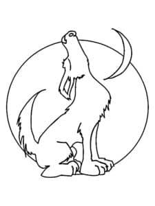 волк луна и месяц