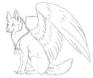 волк с ангельскими крыльями