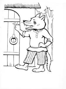 волк стучится в дверь