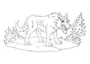 злой волк в лесу