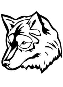 морда волка раскраска детская