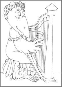 ворона с арфой