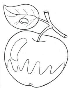 красивое яблоко