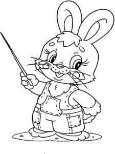 заяц с указкой