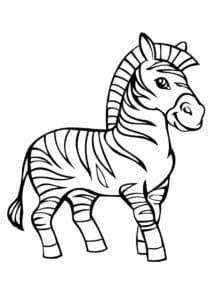 детская раскраска зебра