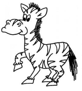 мультяшная зебра