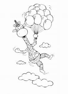 жираф на воздушных шариках