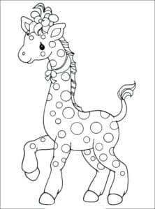 жираф с прической