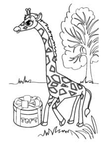 жираф и подарок