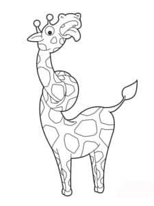 Животное жираф раскраска