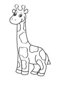 детская раскраска жираф