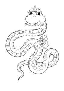 змейка в короне с бантиком