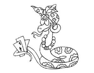 змея с картами