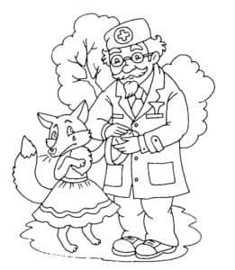 айболит с лисичкой