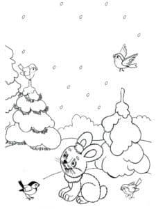 зайчик в лесу
