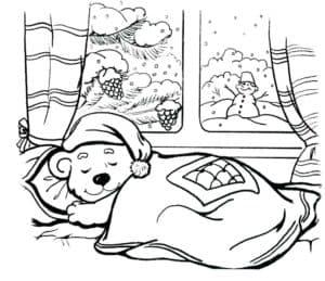 медвежонок спит