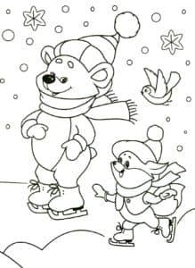 медведь на коньках