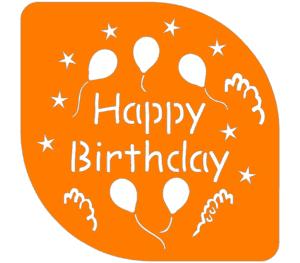 шаблон для дня рождения на торт