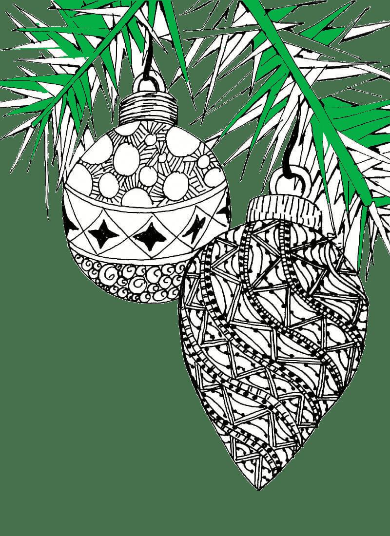 Раскраски на новый год для взрослых