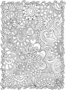 сложная раскраска антистресс