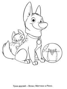 собачка мячик и кошка