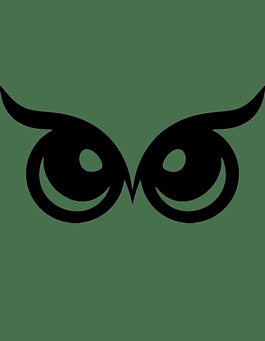 Трафарет и шаблон Глаза