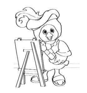 Каркуша рисует