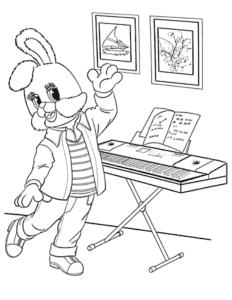 Степашка играет на пианино