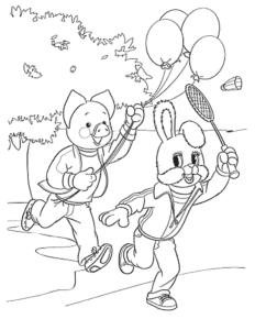 хрюша и тёпа с шариками