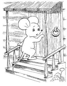 маленький мышонок раскраска
