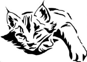 кот трафарет для стен