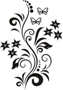 бабочки цветочки