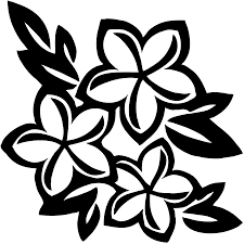 цветы трафарет для стен