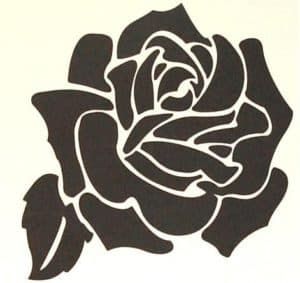 роза трафарет