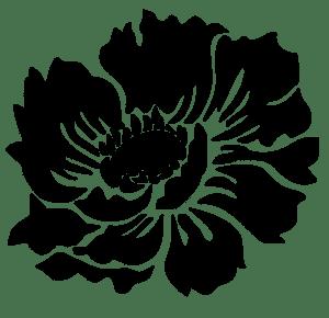 большая роза для декора