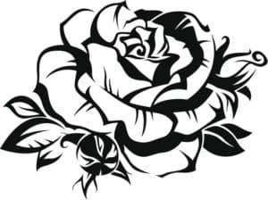 роза для стен шаблон