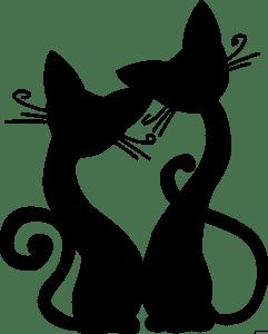 коты трафарет для стен