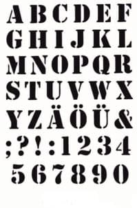английский алфавит трафарет