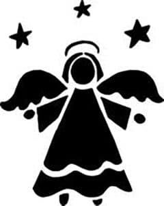 шаблон ангела для аппликаций