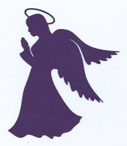 шаблон фиолетового ангелка