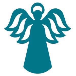 синий ангел трафарет