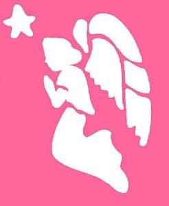 ангел на розовом фоне
