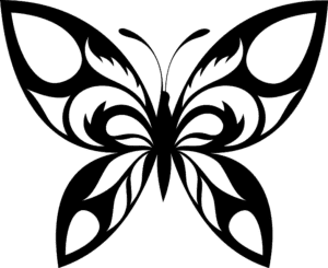 бабочка шаблон