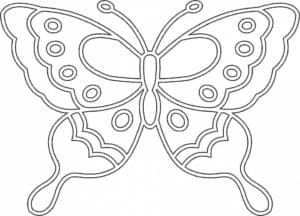 бабочка с кружками шаблон