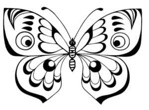 бабочка с глазами шаблон