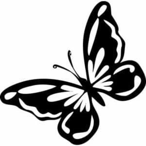 бабочка для вырезания шаблон трафарет
