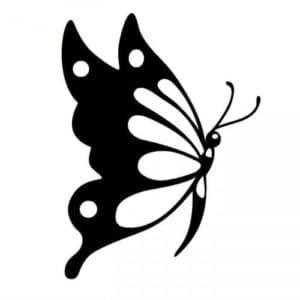 худая бабочка трафарет