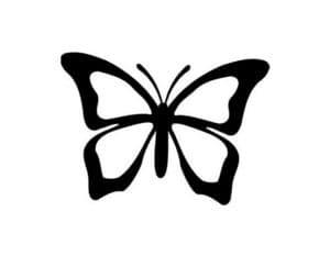 шикарная бабочка трафарет