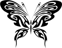 бабочка с узорами